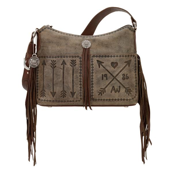 American West Handbag Cross My Heart Collection Leather